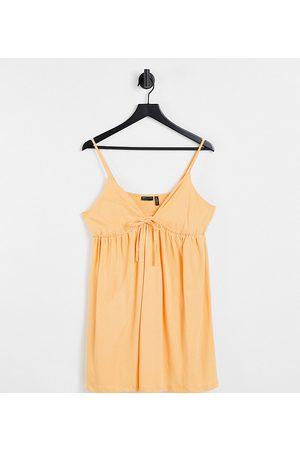 ASOS DESIGN Donna Completi Intimi - Petite - Prendisole stile babydoll con spalline sottili color pesca
