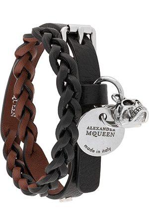 Alexander McQueen Uomo Bracciali - Bracciale doppio intrecciato