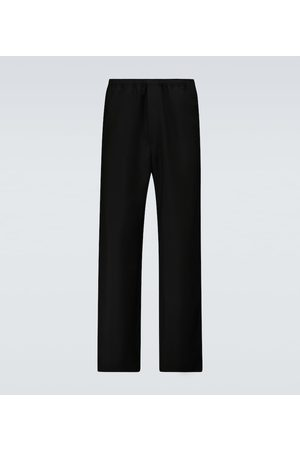 Acne Studios Pantaloni regular in lana e mohair