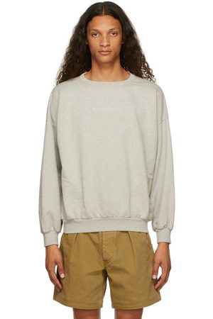 Maison Margiela Uomo Felpe - Grey Embroidered Logo Sweatshirt