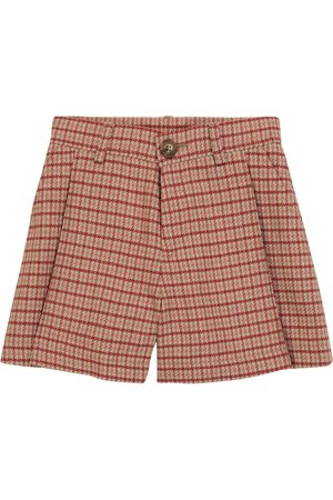 Chloé Kids Bambina Pantaloncini - Shorts in misto lana pied-de-poule