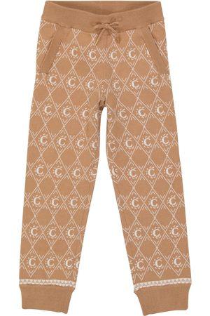 Chloé Kids Pantaloni sportivi in jacquard di cotone