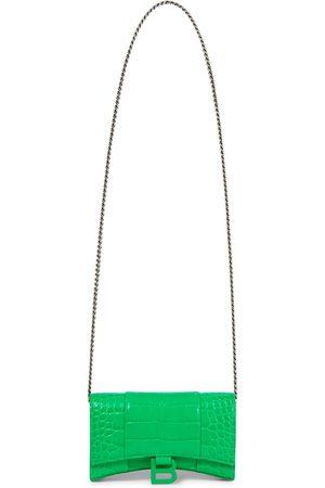 Balenciaga Borsa Hourglass Mini in pelle stampata