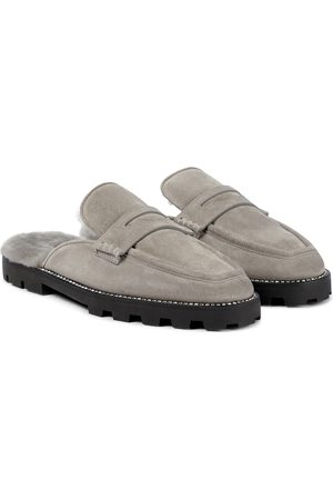 Jimmy Choo Slippers Ronnie in suede e shearling