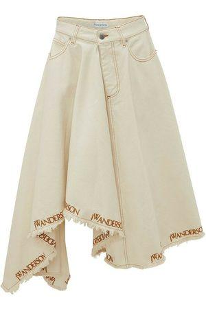 JW Anderson Logo Print Denim Skirt , Donna, Taglia: UK 6