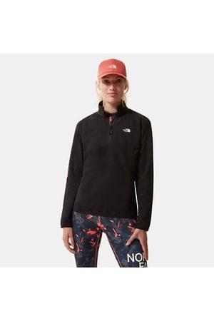 The North Face Donna Felpe - The North Face 100 Glacier Cerniera A Un Quarto Donna Tnf Black Taglia L Donna