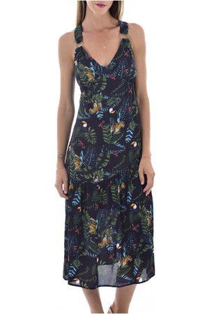 See u soon Donna Vestiti longuette - Robe midi imprimé jungle , Donna, Taglia: L