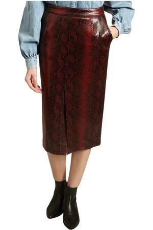 Essentiel Antwerp Glossy Snake Print Midi Skirt , Donna, Taglia: 34 IT