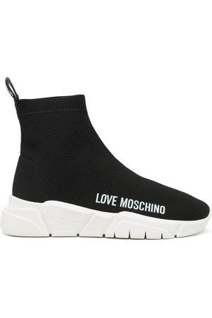 Love Moschino Sneakers senza lacci con stampa