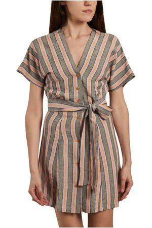 Sessun Cala Vida striped buttoned dress , Donna, Taglia: M