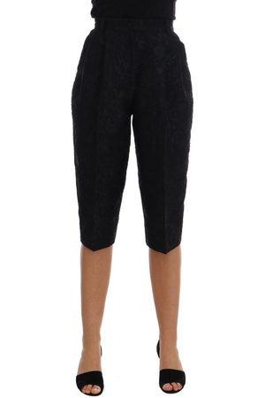 Dolce & Gabbana Brocade High Waist Capri Shorts , Donna, Taglia: 38 IT
