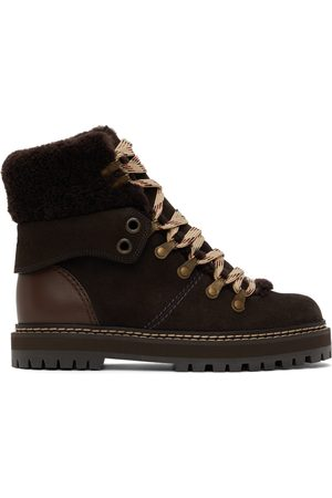 See by Chloé Donna Stivali - Brown Nubuck Eileen Boots