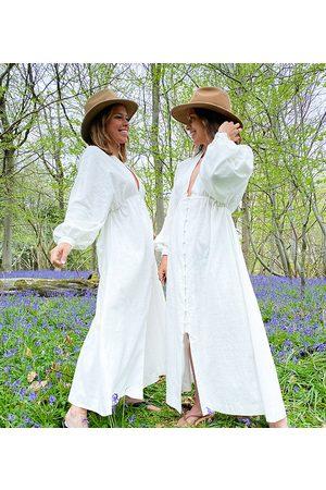 Labelrail X Collyer Twins - Vestito lungo con scollo profondo e bottoni