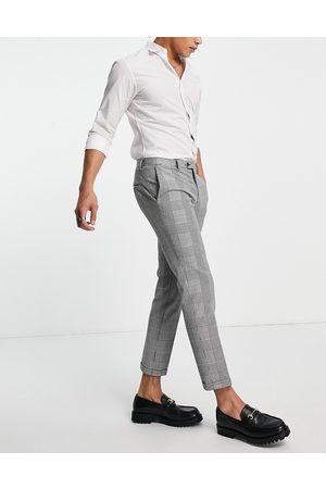 JACK & JONES Premium - Pantaloni comodi da abito a quadri heritage