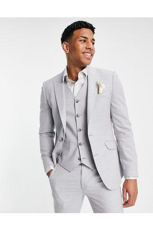 ASOS Wedding - Giacca da abito super skinny ghiaccio testurizzato