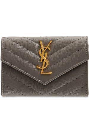 SAINT LAURENT Leather Envelope Wallet