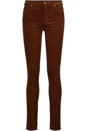 7 For All Mankind Pantaloni skinny in misto cotone a vita alta
