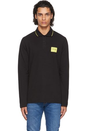 Versace Jeans Couture Uomo Polo - Black Patch Long Sleeve Polo