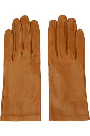 Dries Van Noten Donna Guanti - Tan Leather Gloves