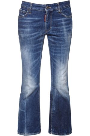 DSQUARED2 Jeans Cropped In Denim Di Cotone