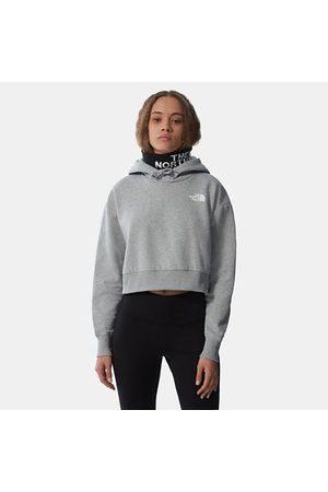TheNorthFace The North Face Trend Felpa In Pile Con Cappuccio Corta In Vita Donna Tnf Light Grey Heather Taglia XS Donna