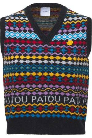 Patou Gilet In Lana E Cashmere Con Logo
