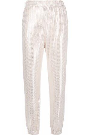 Pinko Donna Chinos - Pantaloni dritti con paillettes - Toni neutri