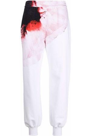Alexander McQueen Donna Pantaloni sportivi - Pantaloni sportivi Anemome con stampa