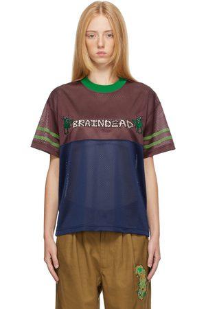 Brain Dead & Blue Mesh Football T-Shirt