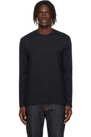 Comme des Garçons Uomo Top - Navy Cotton Forever Long Sleeve T-Shirt