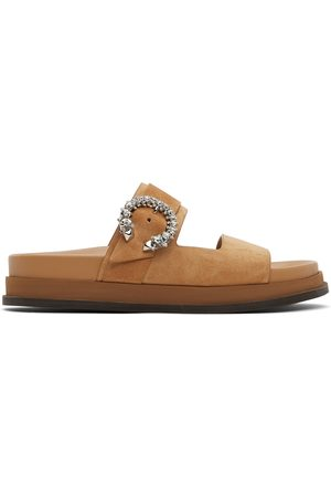 Jimmy Choo Tan Suede Marga Sandals