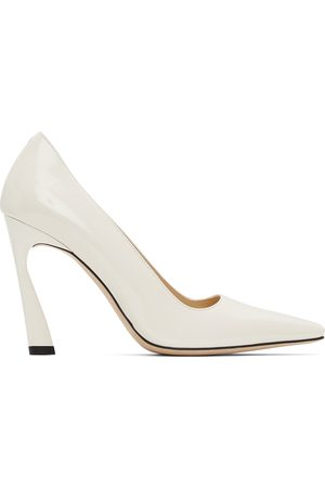 Jimmy Choo Off-White Patent Brittany 100 Heels