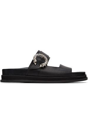 Jimmy Choo Donna Sandali - Black Marga Slide Sandals