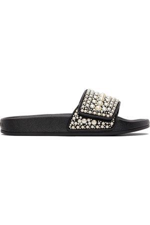 Jimmy Choo Black Fitz Pool Slide Sandals