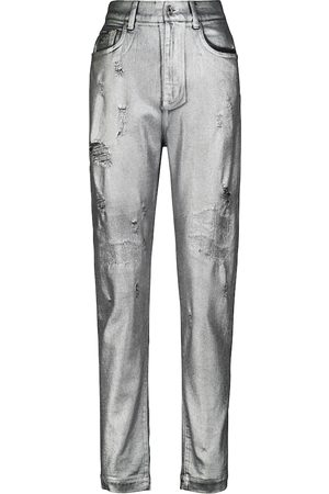 Dolce & Gabbana Jeans distressed a vita alta