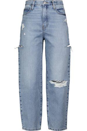 Frame Jeans a gamba larga e vita alta