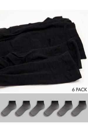 Accessorize Confezione da 6 calzini trasparenti in