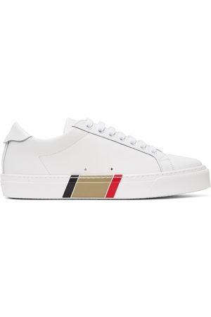 Burberry Uomo Sneakers - White Bio-Based Striped Sole Sneakers