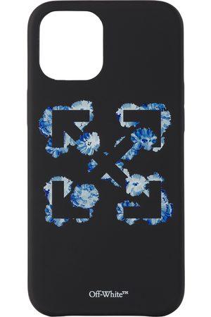 Off-White Cellulare - Black & Blue Floral Arrows iPhone 12 Pro Max Case