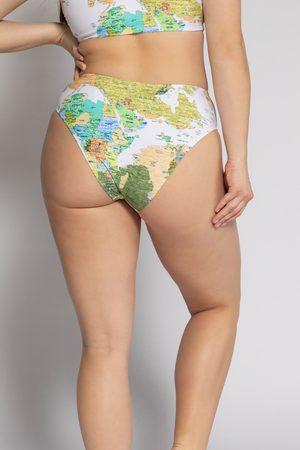 STUDIO UNTOLD Slip del bikini con mappa mondiale stampata e standard fit