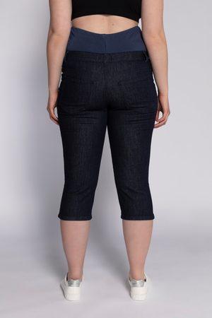 Ulla Popken Jeans Capri prémaman con fascia elastica