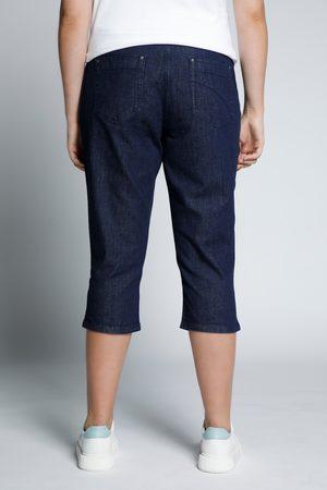 Ulla Popken Pantaloni Capri in cotone elasticizzato con taglio della gamba conico a cinque tasche