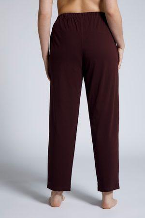 Ulla Popken Pantaloni del pigiama di cotone biologico con spacchetti
