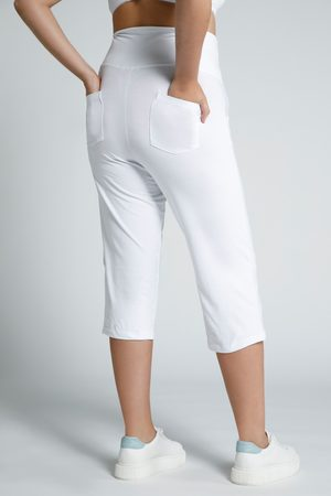Ulla Popken Donna Capri - Pantaloni Capri prémaman con fascia elastica