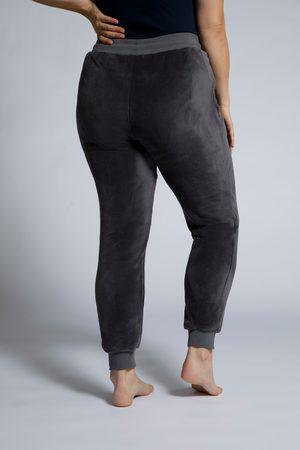 Ulla Popken Pantaloni da casa in peluche con cintura elastica