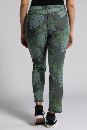 Ulla Popken Jeans double face modello Sammy dalla fantasia a palme