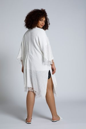 STUDIO UNTOLD Donna Cardigan - Kimono aperto e oversize con frange