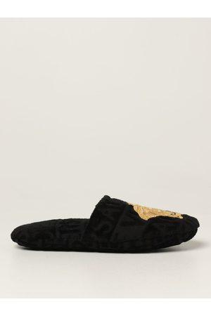 Versace Home Pantofola in cotone con Medusa