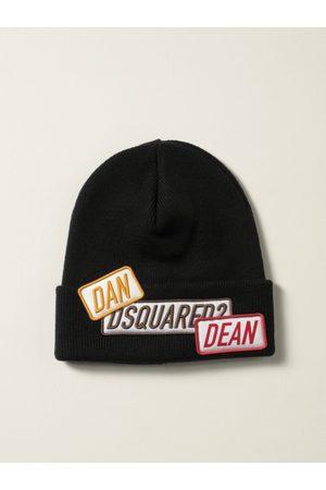 Dsquared2 Cappello a berretto in lana con patches logo
