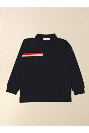 Moncler Polo basic in cotone con banda a righe
